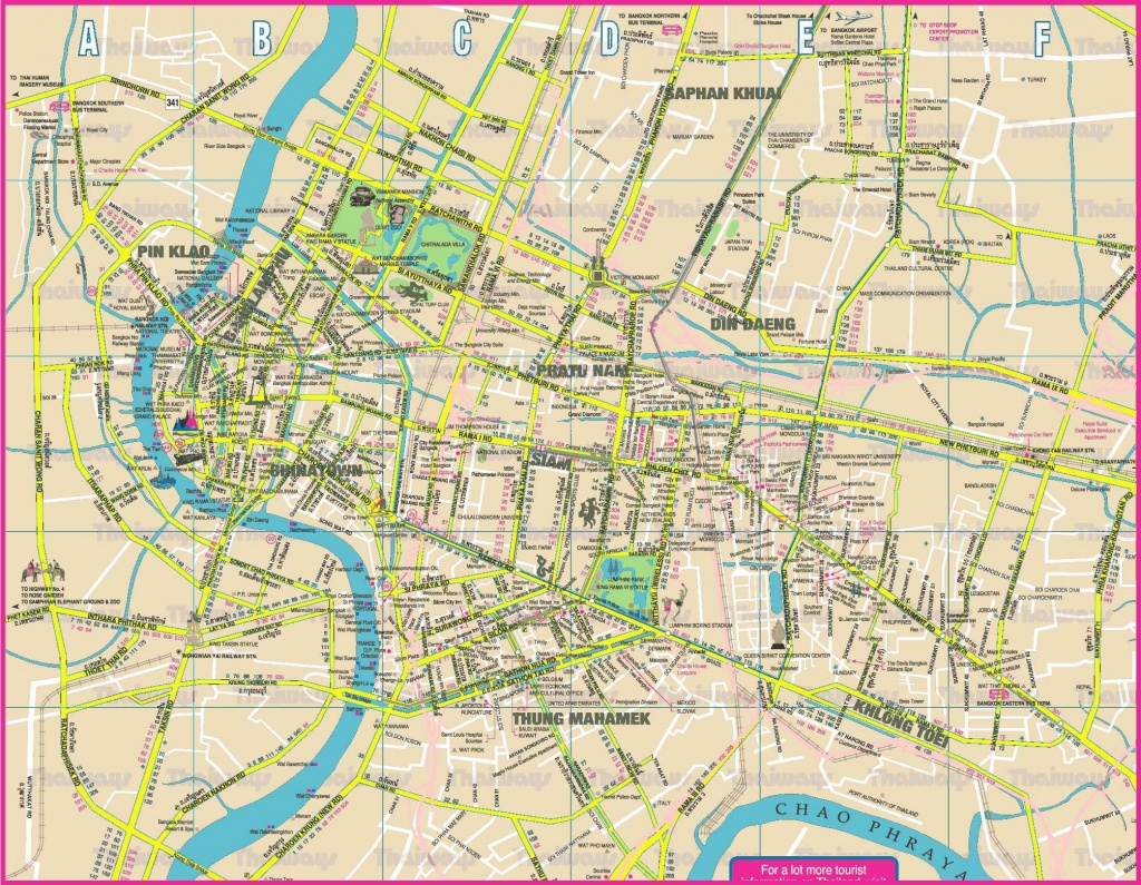 Large Bangkok Maps For Free Download And Print   High-Resolution And - Printable Map Of Bangkok
