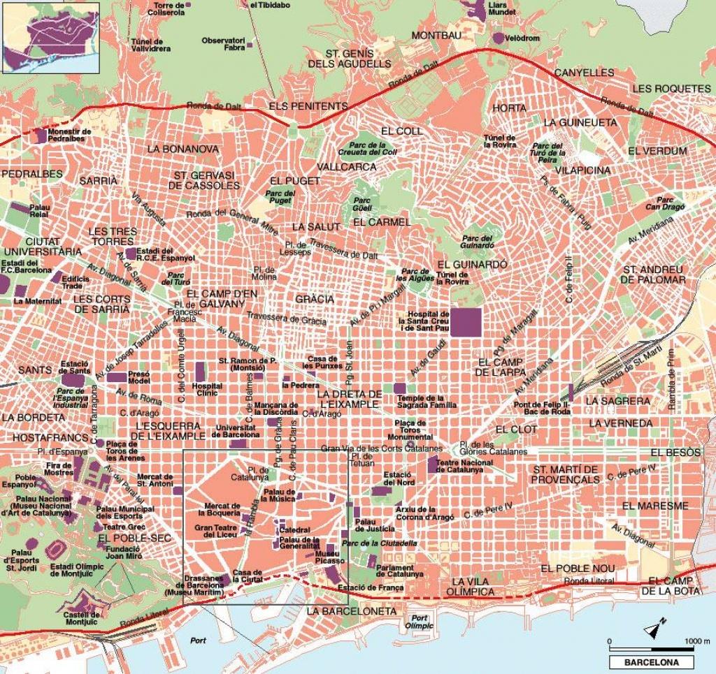 Large Barcelona Maps For Free Download And Print | High-Resolution - Barcelona Tourist Map Printable