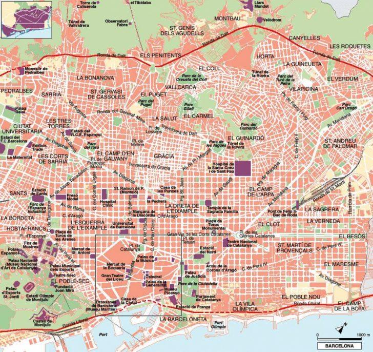 City Map Of Barcelona Printable