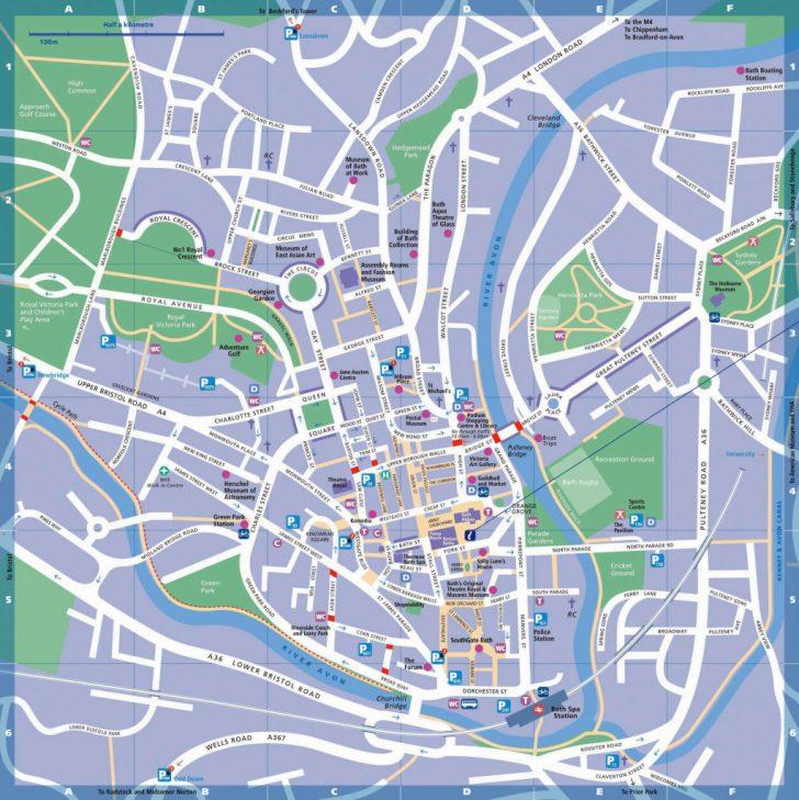 Bristol City Centre Map Printable