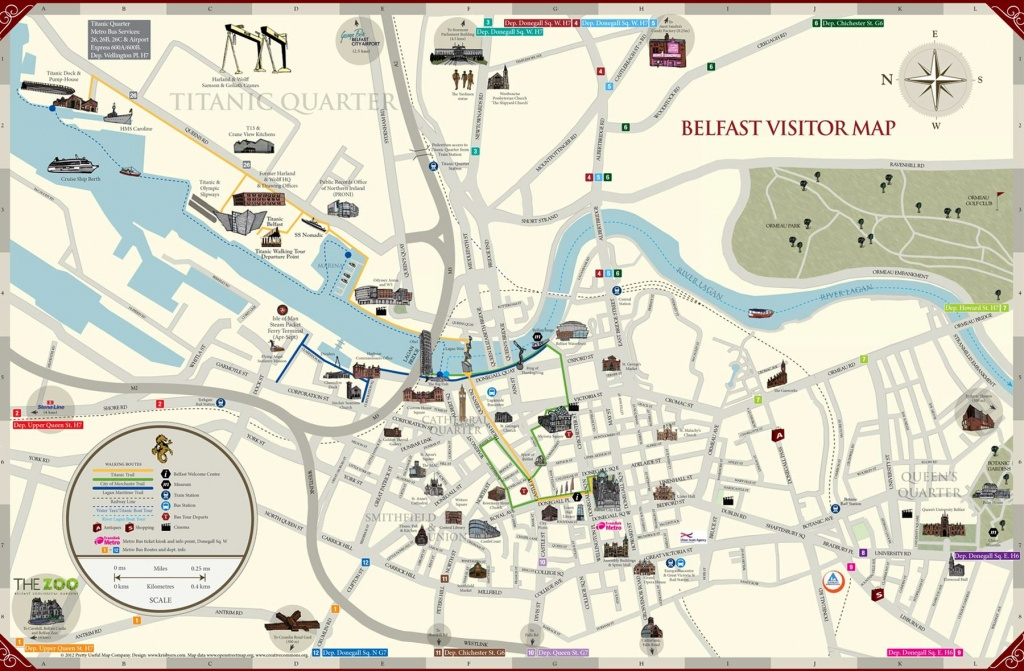 Large Belfast Maps For Free Download And Print   High-Resolution And - Belfast City Map Printable