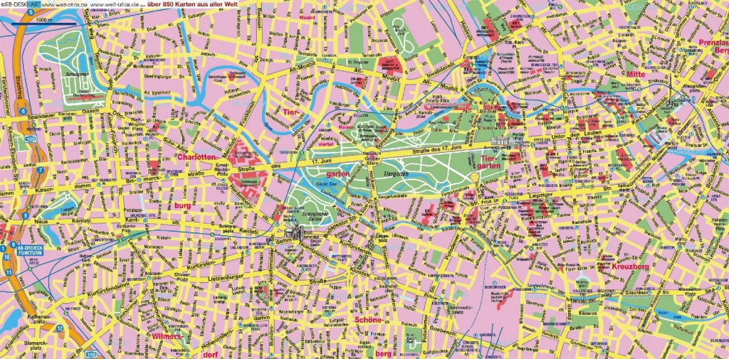 Large Berlin Maps For Free Download And Print | High-Resolution And - Printable Map Of Berlin
