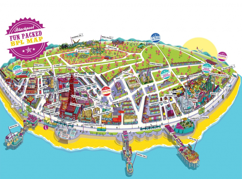 Large Blackpool Maps For Free Download And Print | High-Resolution - Blackpool Tourist Map Printable