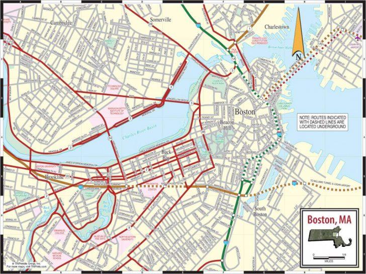 Boston Tourist Map Printable