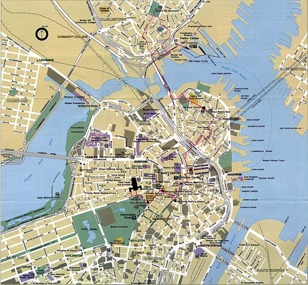 Large Boston Maps For Free Download And Print | High-Resolution And - Printable Map Of Downtown Boston