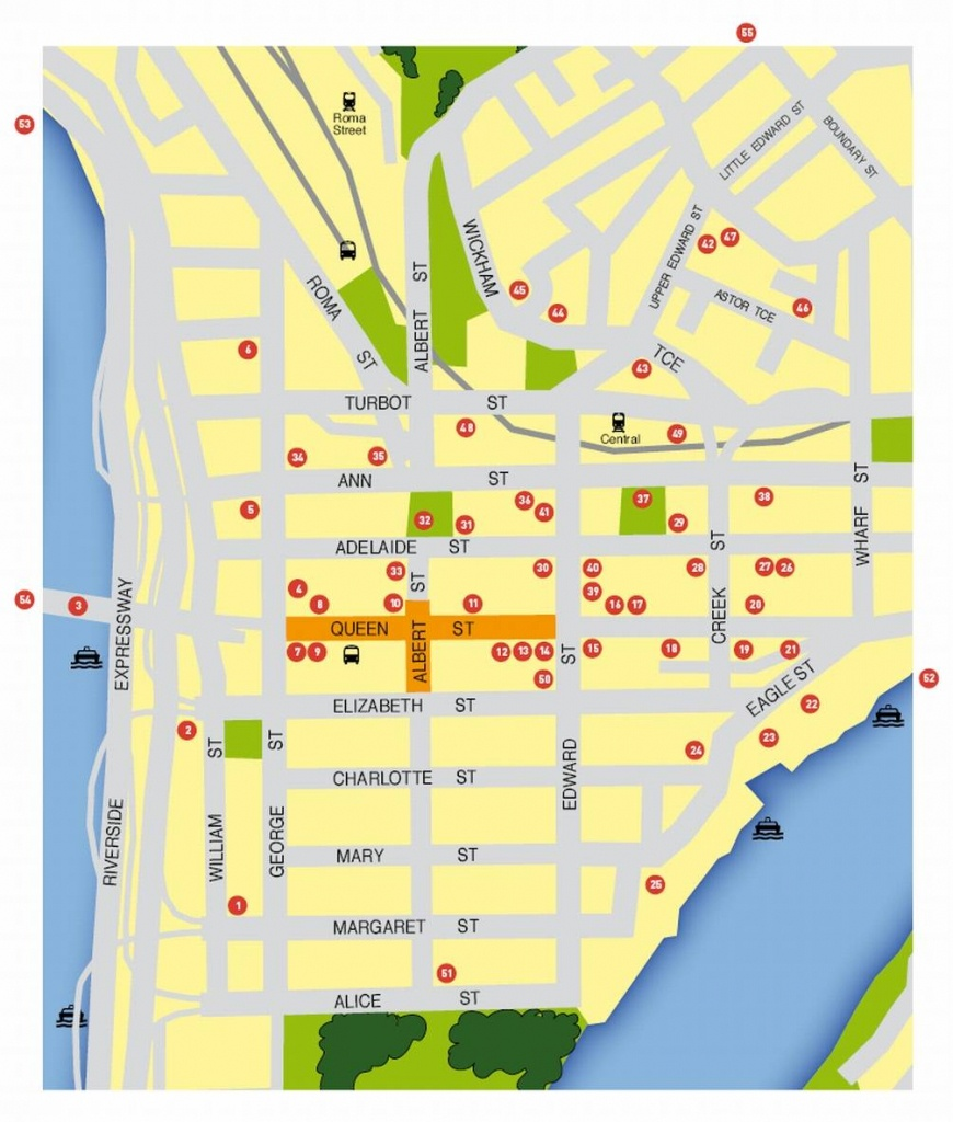 Large Brisbane Maps For Free Download And Print | High-Resolution - Printable Map Of Brisbane