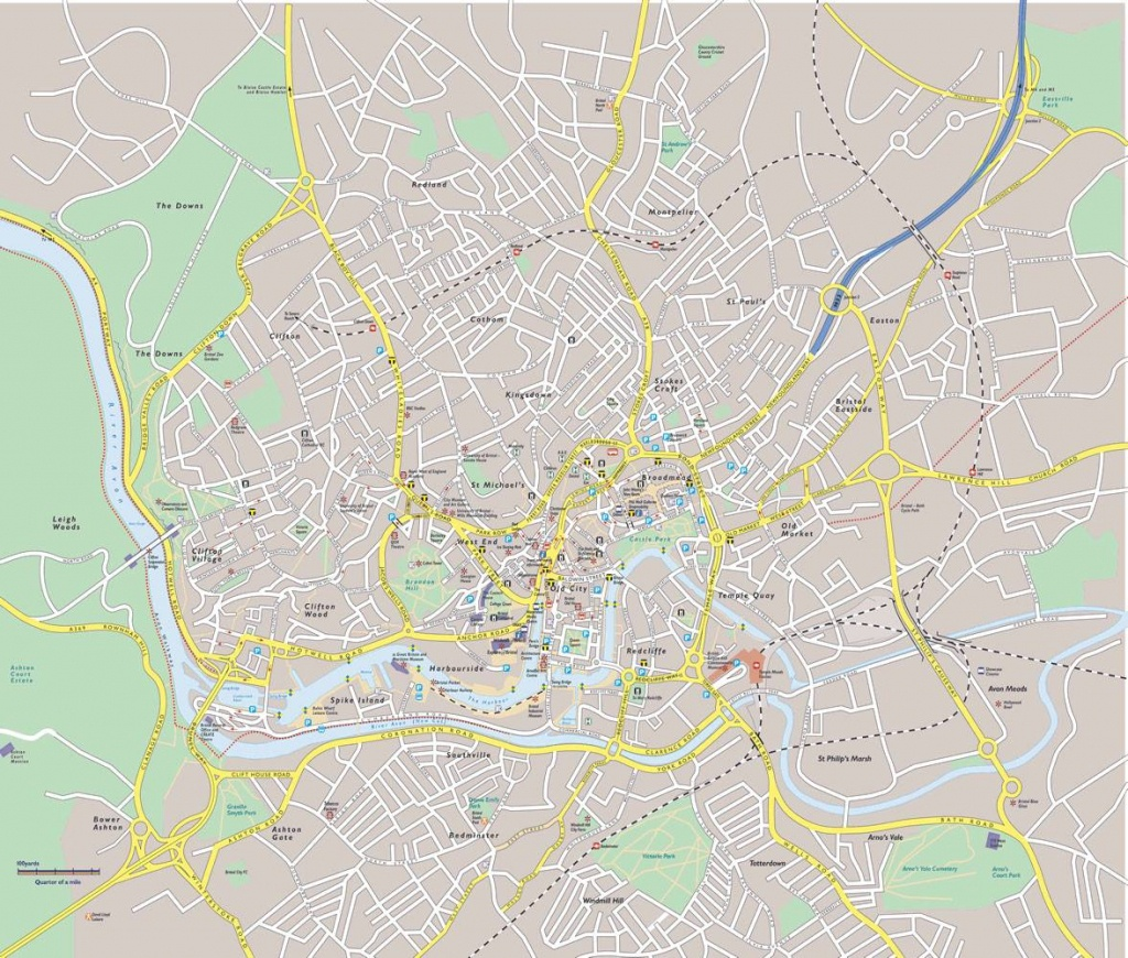 Large Bristol Maps For Free Download And Print | High-Resolution And - Bristol City Centre Map Printable