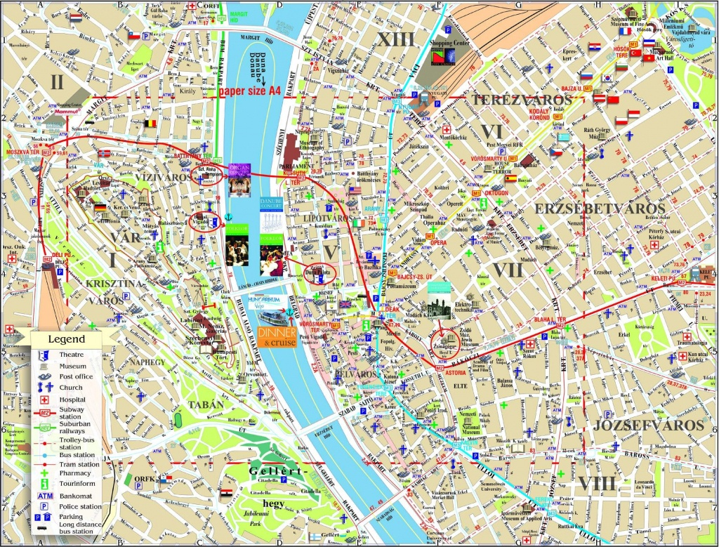 Large Budapest Maps For Free Download And Print | High-Resolution - Budapest Tourist Map Printable