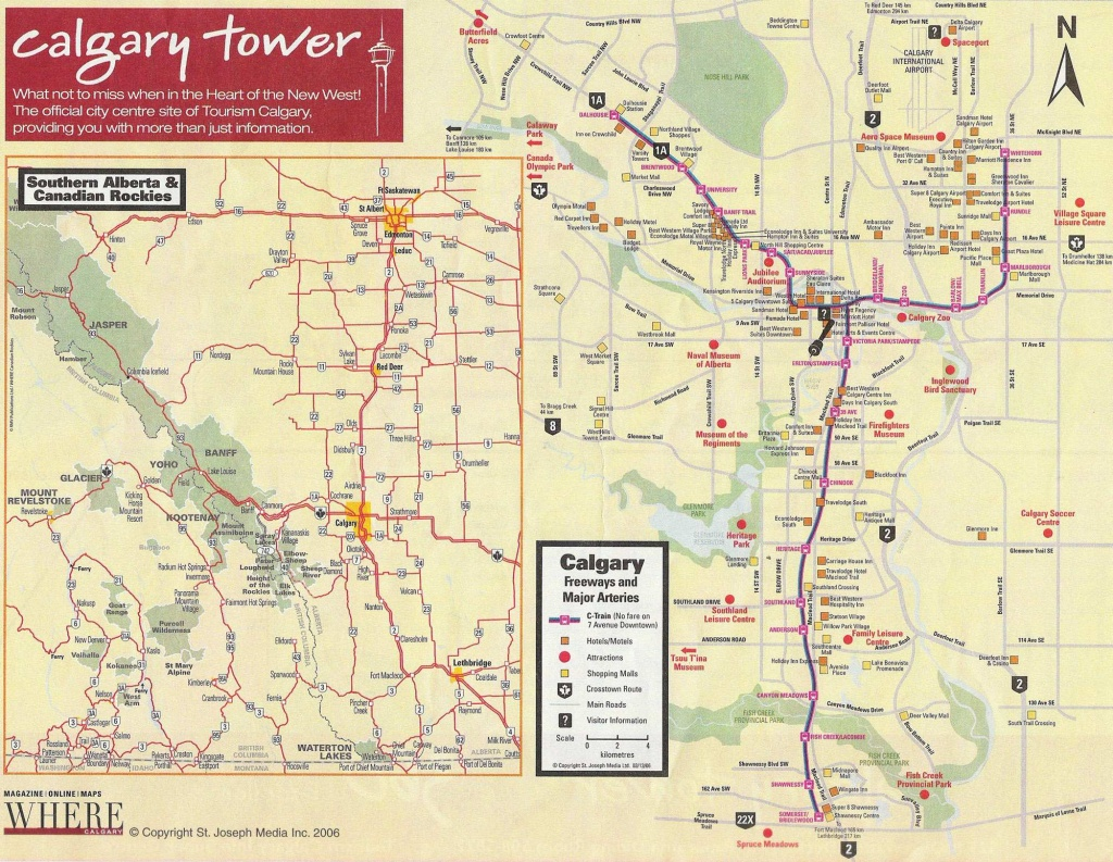 Large Calgary Maps For Free Download And Print | High-Resolution And - Printable Map Of Downtown Calgary