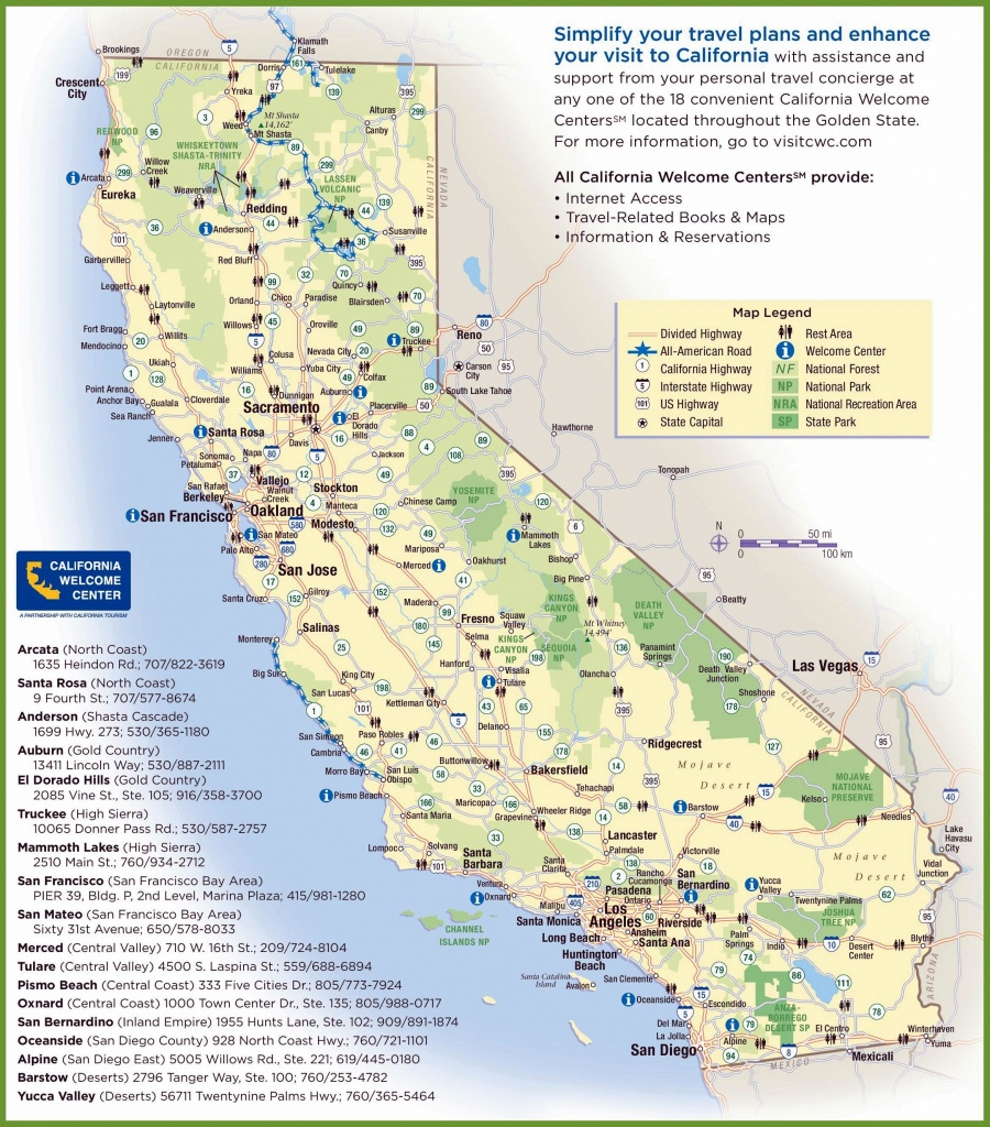 Large California Maps For Free Download And Print | High-Resolution - Picture Of California Map