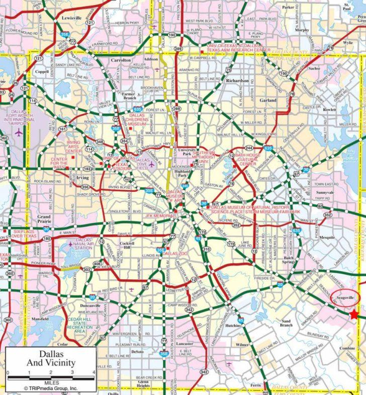 Dallas Texas Highway Map