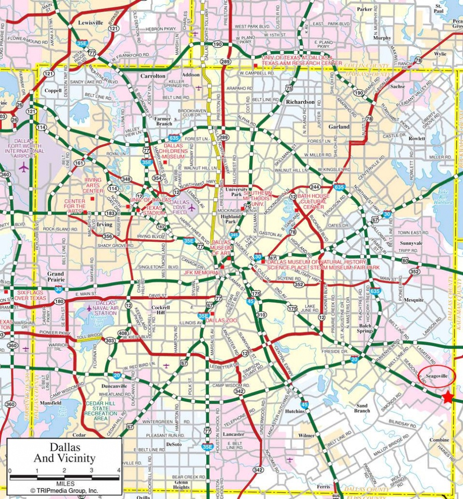 Large Dallas Maps For Free Download And Print | High-Resolution And - Street Map Of Dallas Texas