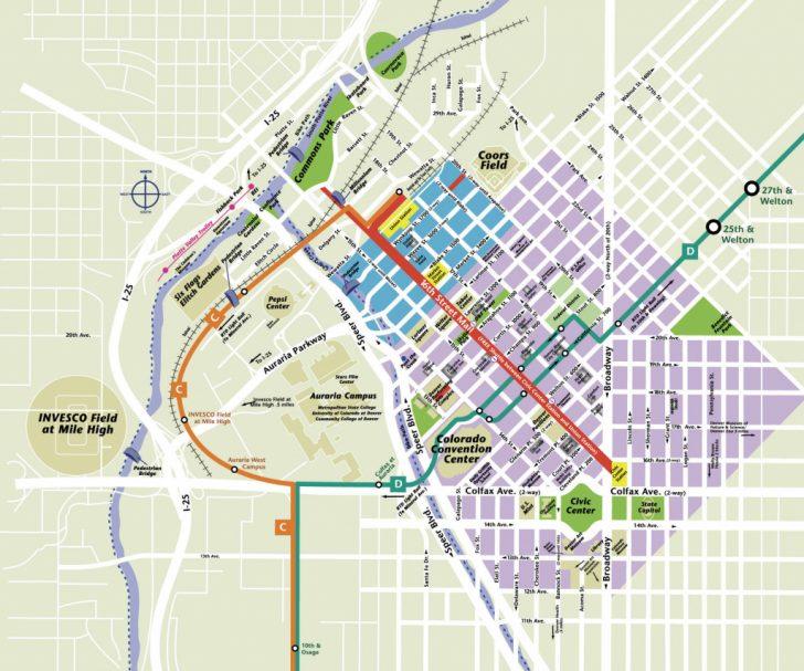 Printable Map Of Denver