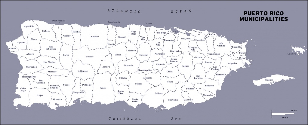 Large Detailed Administrative Map Of Puerto Rico. Puerto Rico Large - Printable Map Of Puerto Rico
