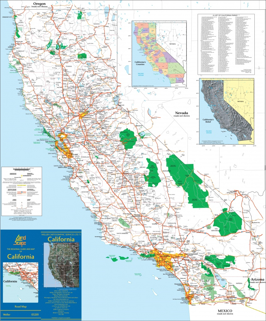 Large Detailed Map Of California With Cities And Towns - Large Map Of California