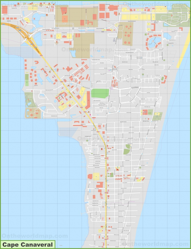 Large Detailed Map Of Cape Canaveral - Port Canaveral Florida Map