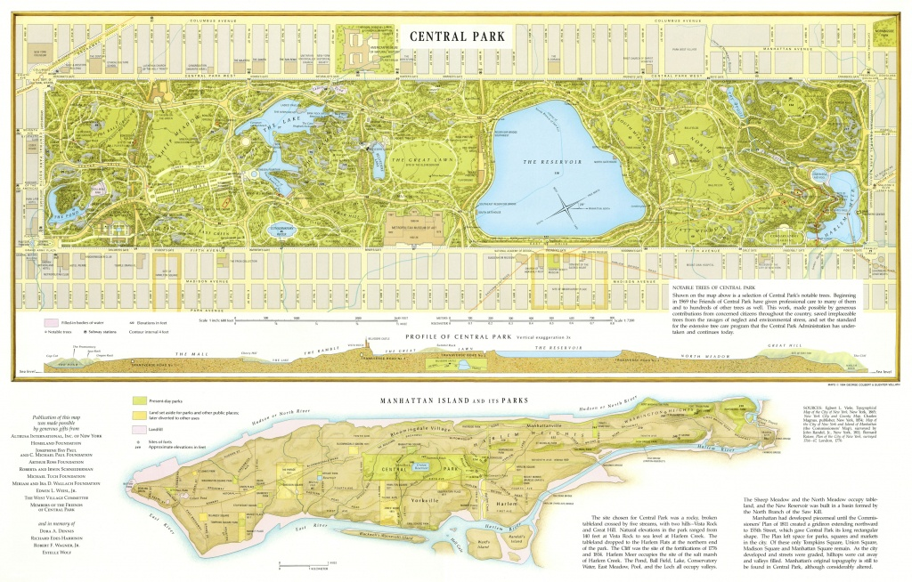 Large Detailed Map Of Central Park, Manhattan, Nyc. Central Park - Printable Map Of Central Park Nyc
