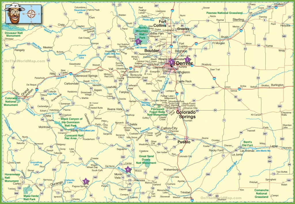 Large Detailed Map Of Colorado With Cities And Roads - Printable Map Of Colorado
