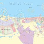 Large Detailed Map Of Dubai   Printable Map Of Dubai
