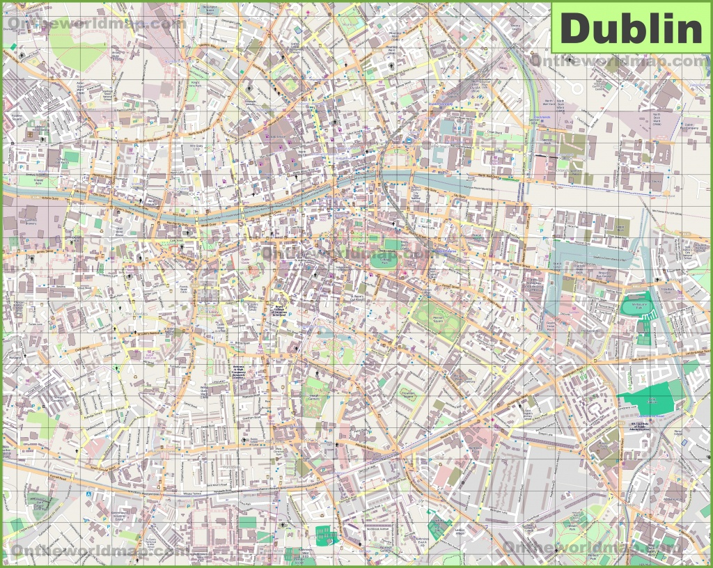 Large Detailed Map Of Dublin - Dublin City Map Printable