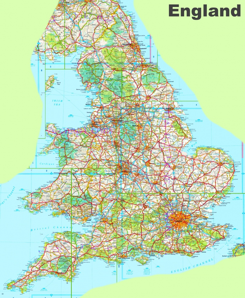 Large Detailed Map Of England - Printable Map Of England