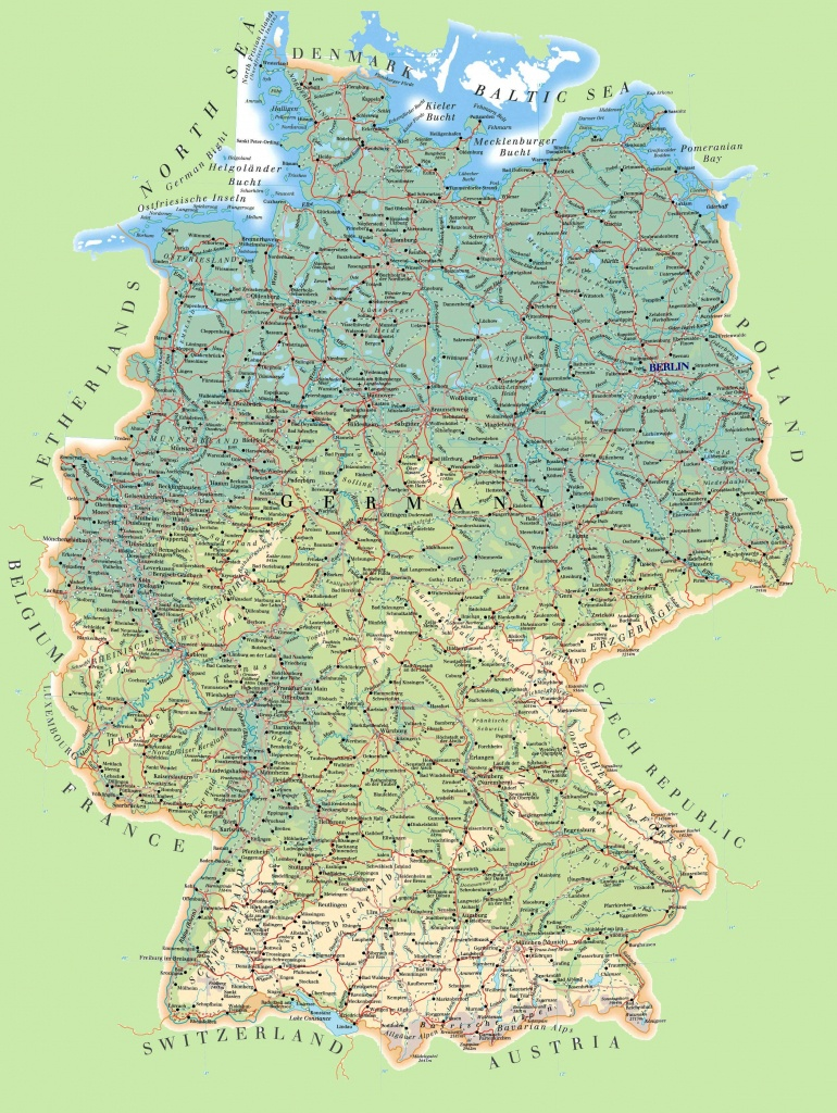 Large Detailed Map Of Germany - Large Printable Map Of Germany