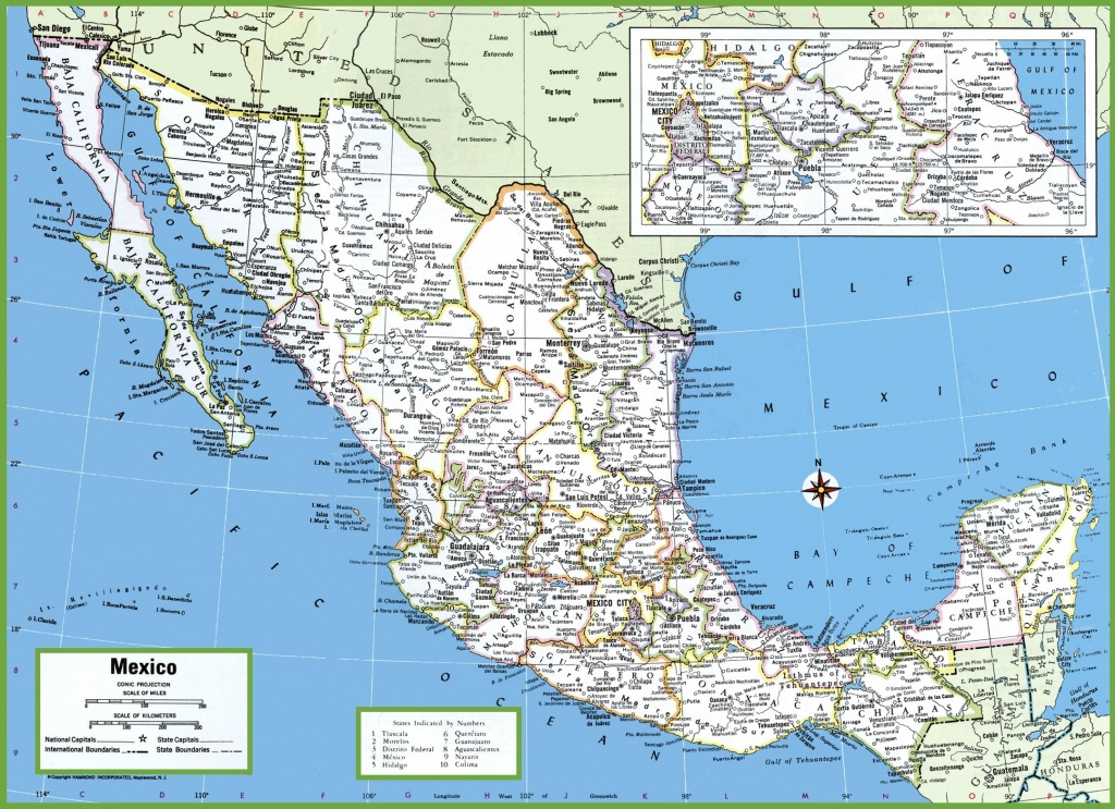 Large Detailed Map Of Mexico With Cities And Towns - Map Of Southern California And Northern Mexico