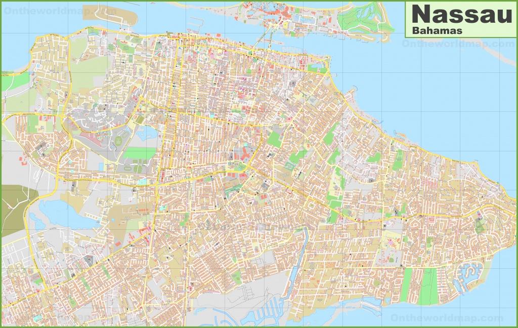 Large Detailed Map Of Nassau (Bahamas) - Printable Map Of Nassau Bahamas