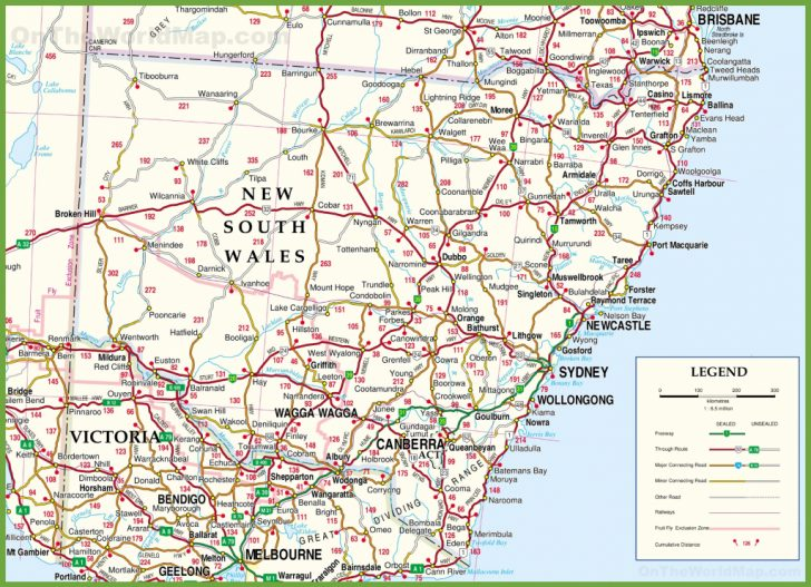 Printable Map Of Australia With Cities And Towns Pdf