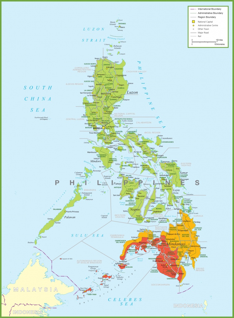 Large Detailed Map Of Philippines - Free Printable Map Of The Philippines