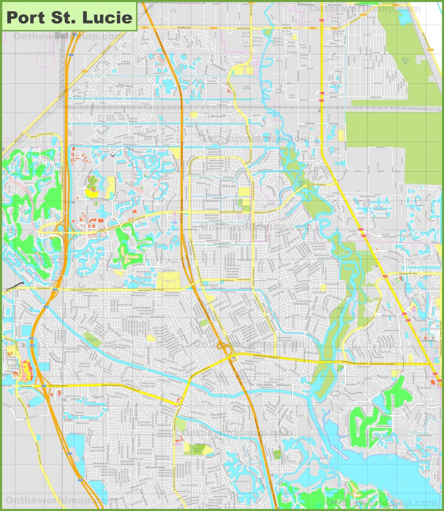 Large Detailed Map Of Port St. Lucie - Map Of Florida With Port St Lucie