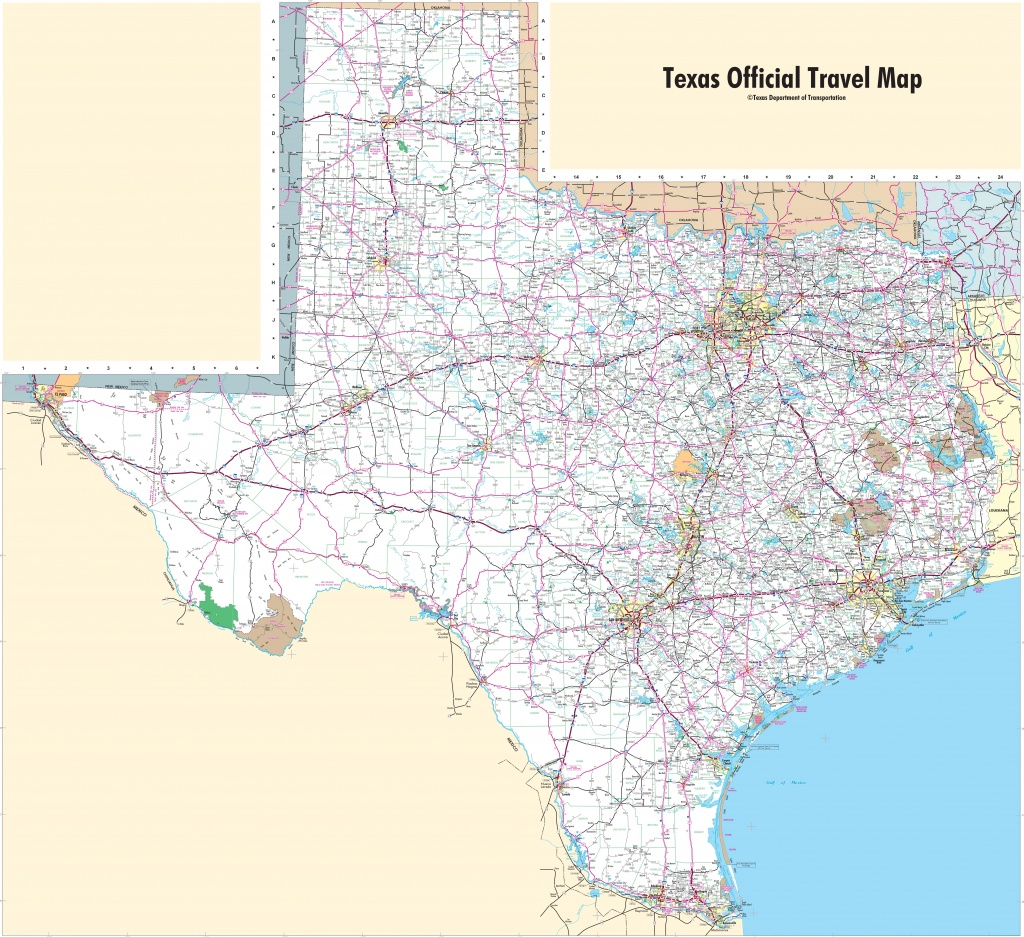 Large Detailed Map Of Texas With Cities And Towns - Texas Road Map With Cities And Towns