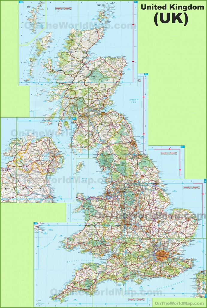 Large Detailed Map Of Uk With Cities And Towns - Printable Map Of England With Towns And Cities