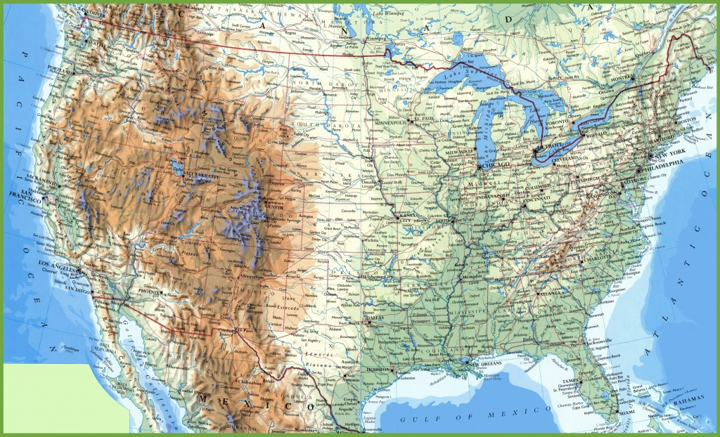 Large Detailed Map Of Usa With Cities And Towns - Printable Map Of The Usa With States And Cities