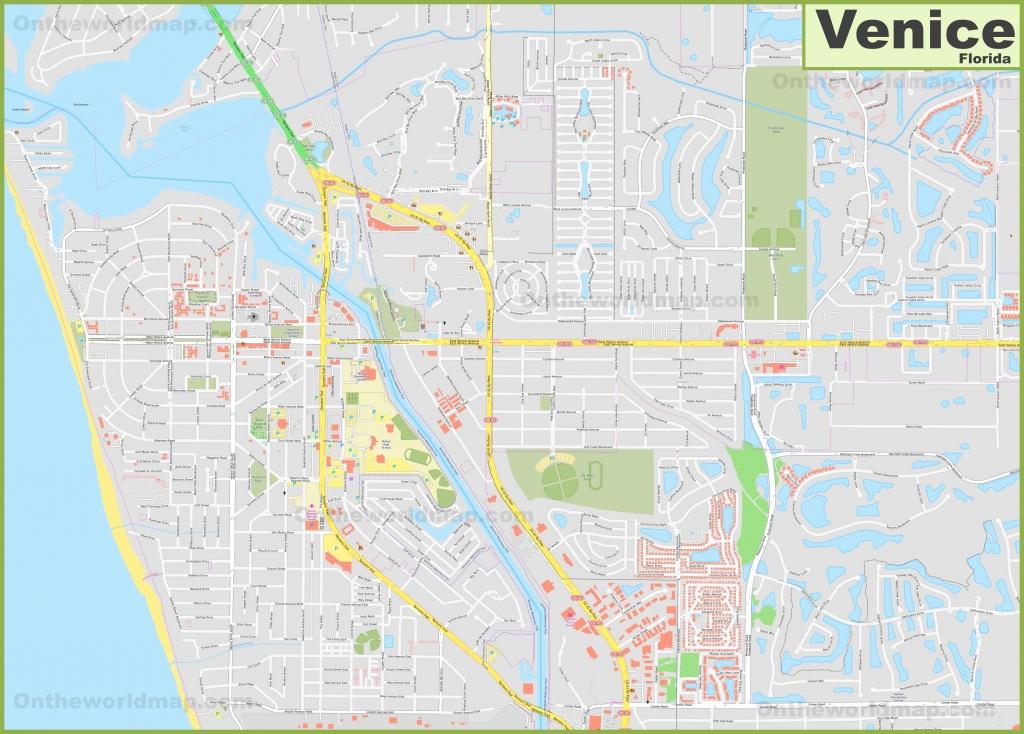 Large Detailed Map Of Venice (Florida) - Florida Street Map