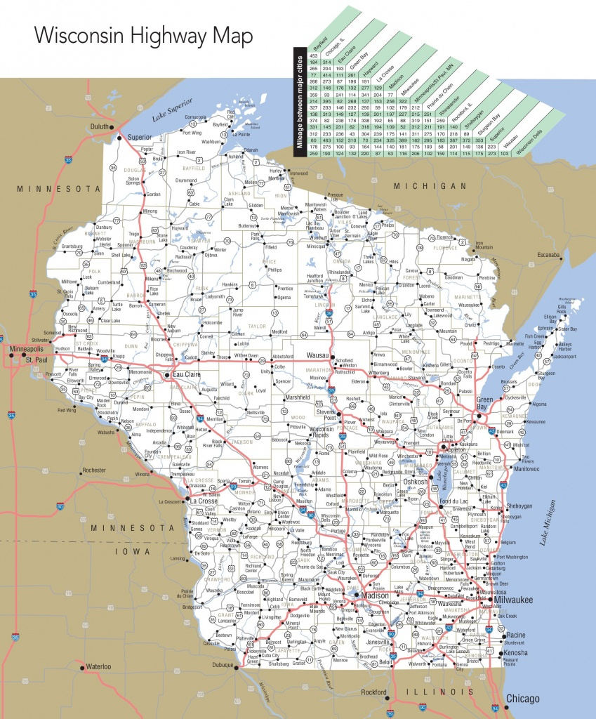Large Detailed Map Of Wisconsin With Cities And Towns - Map Of Wisconsin Counties Printable