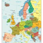 Large Detailed Political Map Of Europe With All Capitals And Major   Printable Map Of Europe With Major Cities