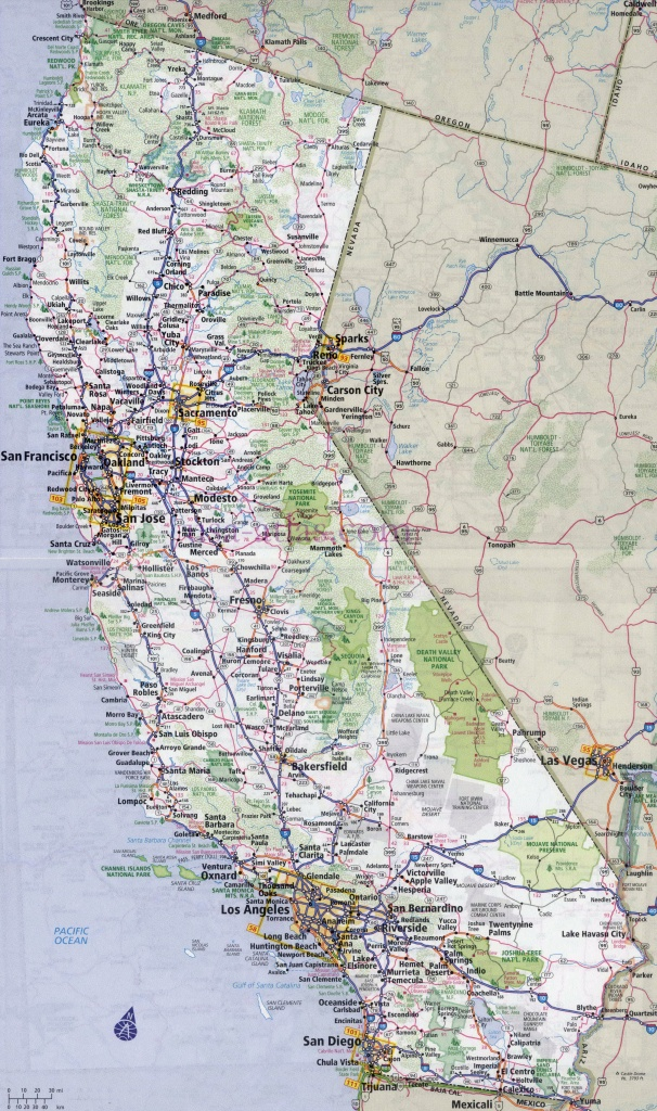 Large Detailed Road And Highways Map Of California State With All - California State Road Map