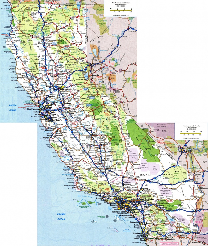 Large Detailed Road And Highways Map Of California State With All - Map Of California Parks