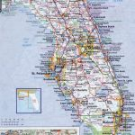 Large Detailed Roads And Highways Map Of Florida State With All   Large Map Of Florida