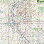 Large Detailed Street Map Of Denver   Denver City Map Printable