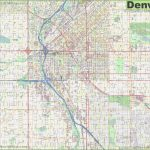 Large Detailed Street Map Of Denver   Printable Map Of Denver