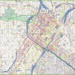 Large Detailed Street Map Of Houston   Downtown Houston Map Printable