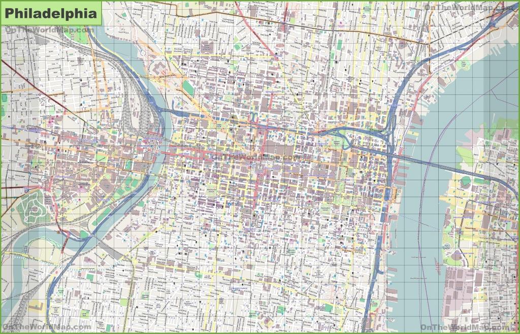Large Detailed Street Map Of Philadelphia - Printable City Street Maps