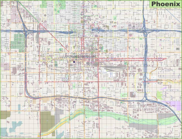 Printable Map Of Phoenix