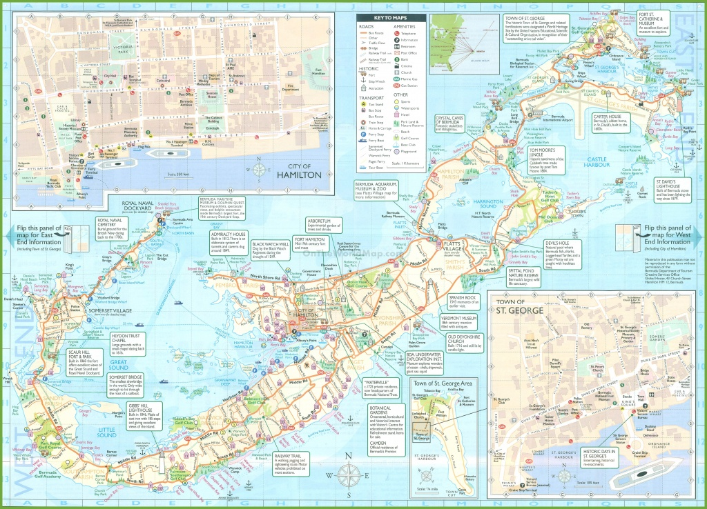 Large Detailed Tourist Map Of Bermuda - Printable Map Of Bermuda