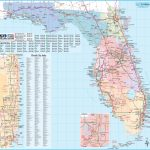 Large Detailed Tourist Map Of Florida   Large Map Of Florida