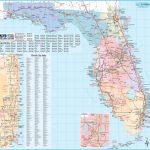 Large Detailed Tourist Map Of Florida   Large Map Of Florida