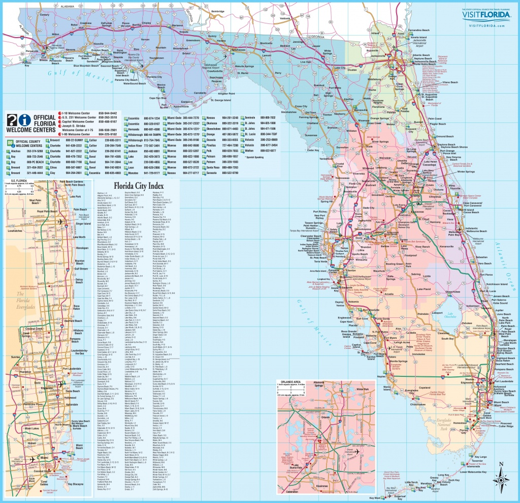 Large Detailed Tourist Map Of Florida - Large Map Of Florida
