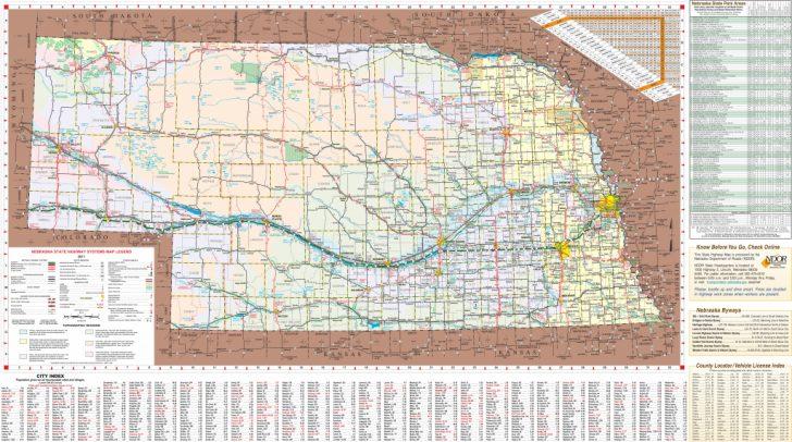 Printable Map Of Nebraska